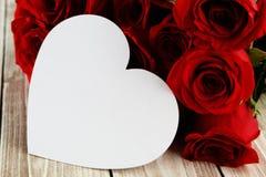 Cartão do coração Imagens de Stock Royalty Free