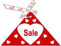 Cartão do coração Foto de Stock Royalty Free