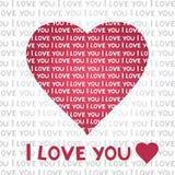 Cartão do coração do amor ilustração stock
