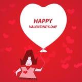 Cartão do coração do balão Foto de Stock Royalty Free