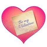 Cartão do coração do laço Imagem de Stock