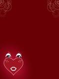 Cartão do coração do Valentim Imagens de Stock Royalty Free