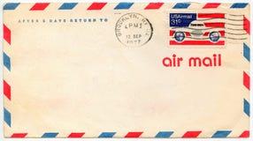 O correio aéreo velho envolve Imagem de Stock