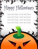 Cartão do cumprimento/convite de Halloween Fotografia de Stock Royalty Free