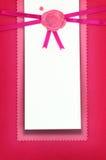 Cartão do cumprimento ou do convite Fotos de Stock Royalty Free