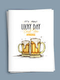 Cartão do cumprimento ou do convite para a celebração do dia de St Patrick Imagem de Stock Royalty Free