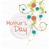 Cartão do cumprimento ou do convite para o dia de mãe feliz Imagens de Stock Royalty Free