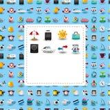 Cartão do curso dos desenhos animados Imagens de Stock