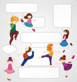 Cartão do dançarino dos desenhos animados Imagens de Stock