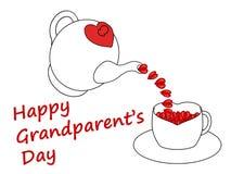 Cartão do dia da avó feliz, isolado em um fundo branco Fotos de Stock Royalty Free