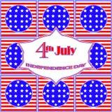 Cartão do Dia da Independência Foto de Stock Royalty Free