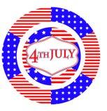 Cartão do Dia da Independência Foto de Stock