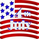 Cartão do Dia da Independência Imagens de Stock