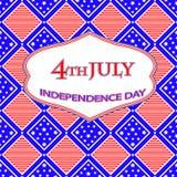Cartão do Dia da Independência Imagem de Stock