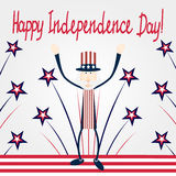Cartão do Dia da Independência Fotografia de Stock