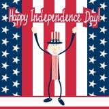 Cartão do Dia da Independência Fotografia de Stock Royalty Free