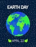 Cartão do Dia da Terra Fotos de Stock Royalty Free