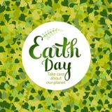 Cartão do Dia da Terra Imagem de Stock
