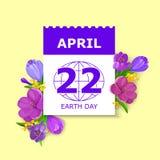 Cartão do Dia da Terra ilustração royalty free