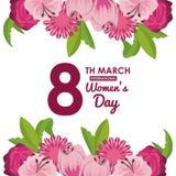 Cartão do dia das mulheres ilustração royalty free
