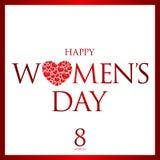 Cartão do dia das mulheres felizes ilustração do vetor