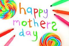 Cartão do dia de mãe Imagem de Stock