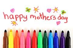Cartão do dia de mãe Fotos de Stock Royalty Free