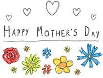 Cartão do dia de mãe Imagens de Stock