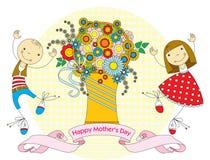 Cartão do dia de mãe ilustração do vetor