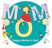 Cartão do dia de mãe Foto de Stock