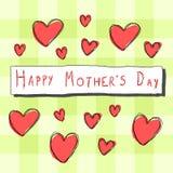 Cartão do dia de mãe Imagens de Stock Royalty Free