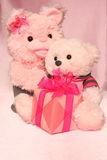 Cartão do dia de mães: Teddy Bears Image - foto conservada em estoque Imagem de Stock