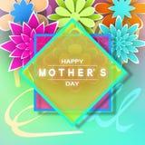 Cartão do dia de Mother's Imagens de Stock
