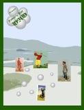 Cartão do dia de pai Imagem de Stock