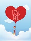Cartão do dia de pai Imagens de Stock Royalty Free
