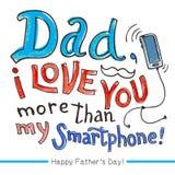 Cartão do dia de pai Imagens de Stock