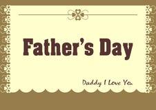 Cartão do dia de pai Fotos de Stock Royalty Free
