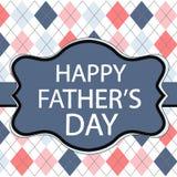 Cartão do dia de pai com testes padrões da textura da tela Imagens de Stock