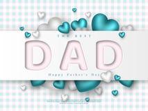 Cartão do dia de pais Fotografia de Stock Royalty Free