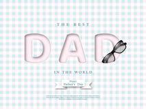 Cartão do dia de pais Fotografia de Stock