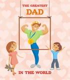 Cartão do dia de pais Fotos de Stock