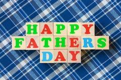 Cartão do dia de pais - foto conservada em estoque Fotos de Stock Royalty Free