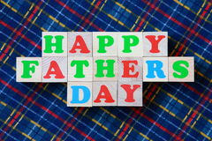 Cartão do dia de pais - foto conservada em estoque Fotos de Stock