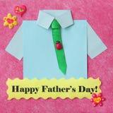 Cartão do dia de pais - fundo do ofício - foto conservada em estoque Fotografia de Stock Royalty Free