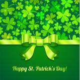 Cartão do dia de Patrick de Saint Imagens de Stock Royalty Free