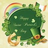 Cartão do dia de Patrick de Saint ilustração royalty free