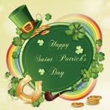 Cartão do dia de Patrick de Saint Foto de Stock