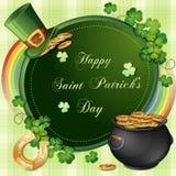 Cartão do dia de Patrick de Saint Imagens de Stock