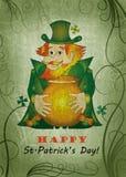 Cartão do dia de St.Patrick Fotografia de Stock
