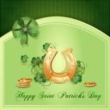 Cartão do dia de St Patrick Foto de Stock